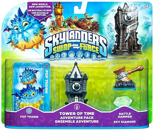 Skylanders Swap Force Tower of Time Adventure Pack [Pop Thorn Battle Hammer Sky Diamond]