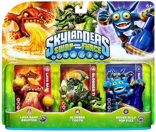 Skylanders Swap Force Lava Barf Eruptor, Slobber Tooth & Super Gulp Pop Fizz Figure 3-Pack