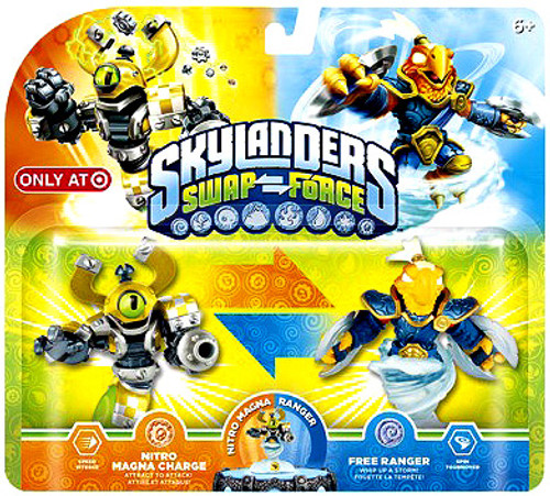 Skylanders Swap Force Swappable Nitro Magna Charge & Free Ranger Exclusive Figure 2-Pack