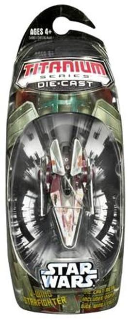 Star Wars The Clone Wars Titanium Series 2006 V-Wing Starfighter Diecast Vehicle