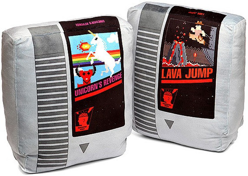 Nintendo Retro Video Game Cartridge Pillow Set