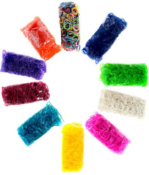 Rainbow Loom Random Colors Rubber Bands Refill Pack [6000 ct]