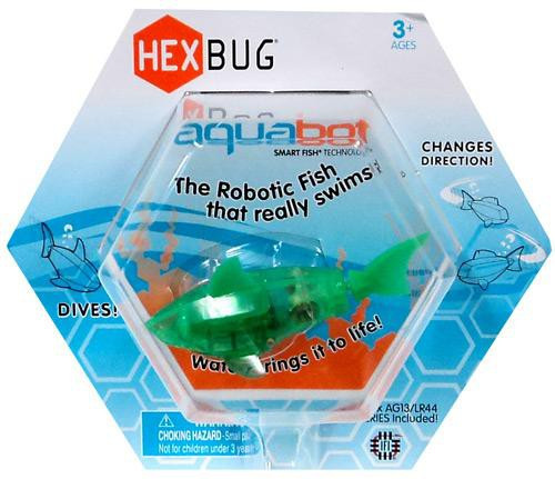 Hexbug Aquabot Green Shark 3-Inch Electronic Pet