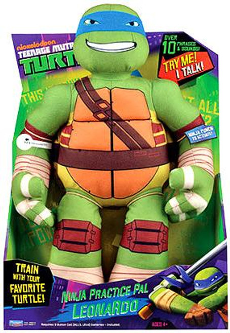 Teenage Mutant Ninja Turtles Nickelodeon Ninja Practice Pal Leonardo 15-Inch Plush