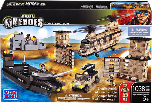 Mega Bloks True Heroes Construction Stealth Attack Set