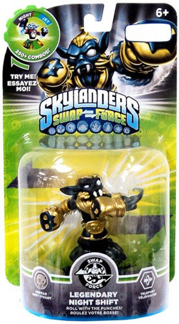 Skylanders Swap Force Swappable Legendary Night Shift Exclusive Figure Pack