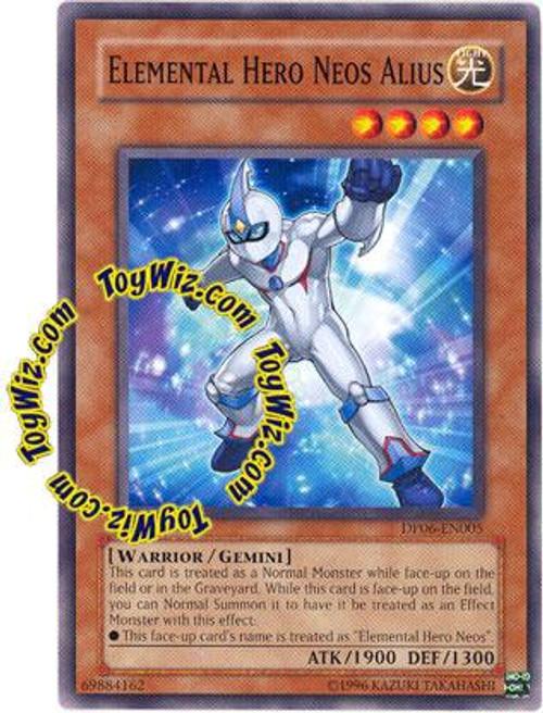 YuGiOh GX Duelist Pack Jaden Yuki 3 Common Elemental Hero Neos Alius DP06-EN005