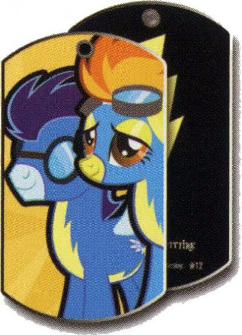 My Little Pony Friendship is Magic Dog Tags Spitfire & Soarin Dog Tag #12 [Loose]