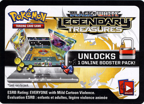 Black & White Legendary Treasures Online Code Card Promo Code Card for Pokemon TCG Online