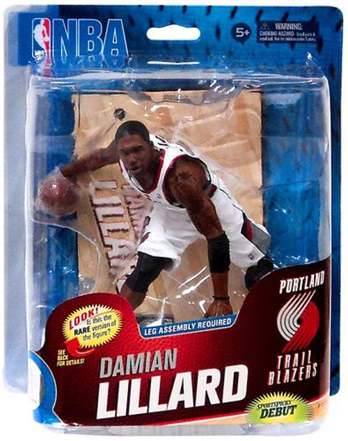 McFarlane Toys NBA Portland Trailblazers Sports Picks Series 23 Damian Lillard Action Figure [White Rip City Jersey]