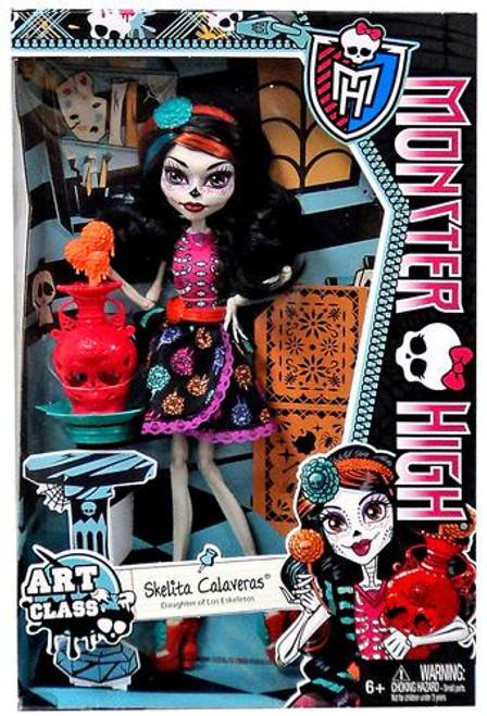 Monster High Classroom Art Class Skelita Calaveras 10.5-Inch Doll
