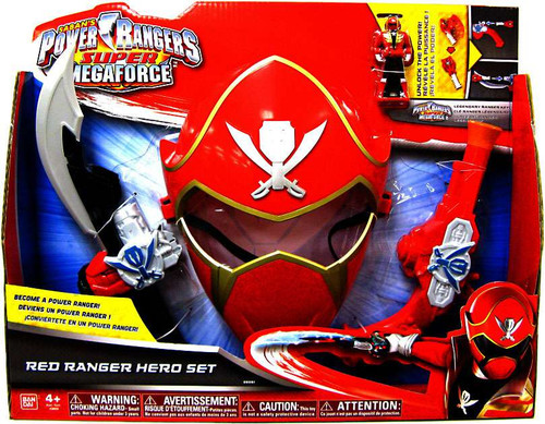 Power Rangers Super Megaforce Red Ranger Hero Set Roleplay Toy