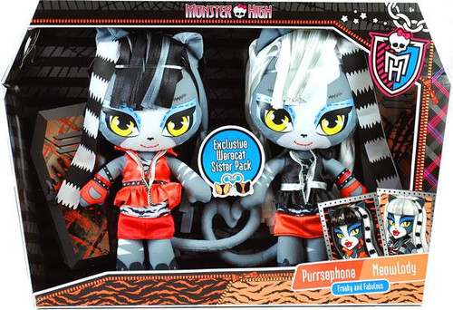 Monster High Purrsephone & Meowlady Exclusive Plush Dolls