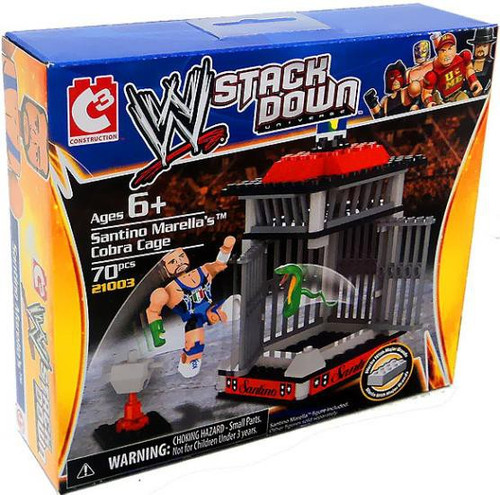WWE Wrestling C3 Construction WWE StackDown Santino Marella's Cobra Cage Set #21003