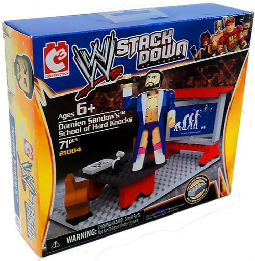 WWE Wrestling C3 Construction WWE StackDown Damien Sandow's School of Hard Knocks Set #21004