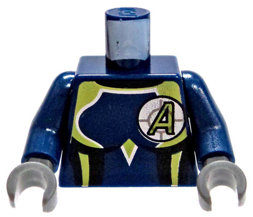 LEGO Agents Minifigure Parts Blue Female Body Suit with Green & Silver Trim with Green A in Cross-Hairs Loose Torso [Loose]