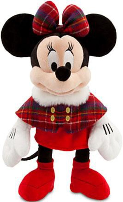Disney Mickey Mouse Holiday Minnie Mouse Exclusive 17-Inch Plush [Plaid Cape]