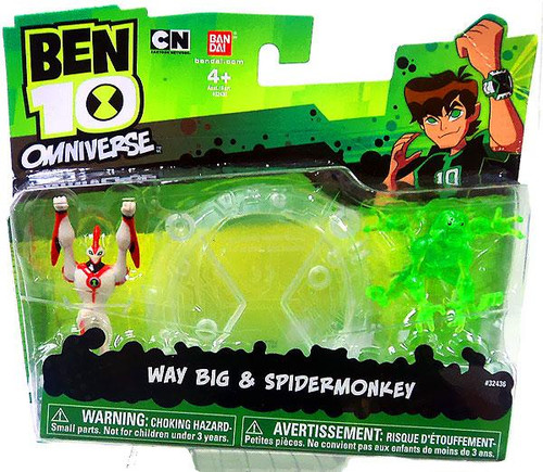 Ben 10 Omniverse Way Big & Spidermonkey 2-Inch Mini Figure 2-Pack