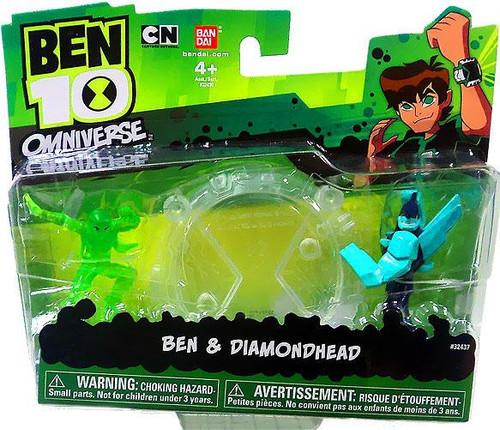 Ben 10 Omniverse Ben & Diamondhead 2-Inch Mini Figure 2-Pack