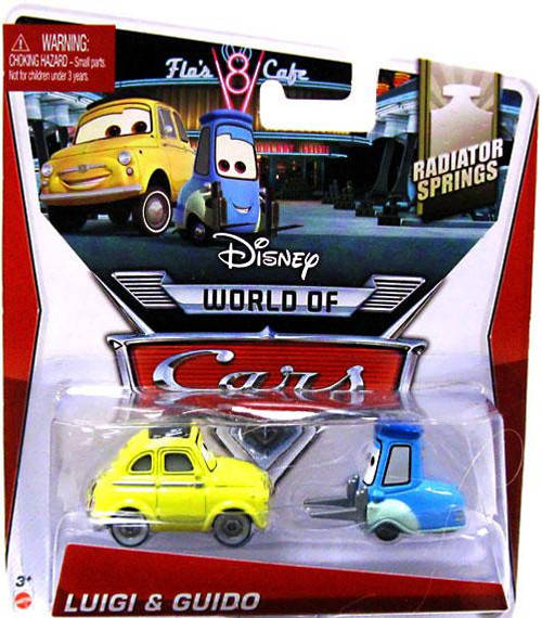 Disney Cars The World of Cars Series 2 Luigi & Guido Diecast Car #3/4 of 15