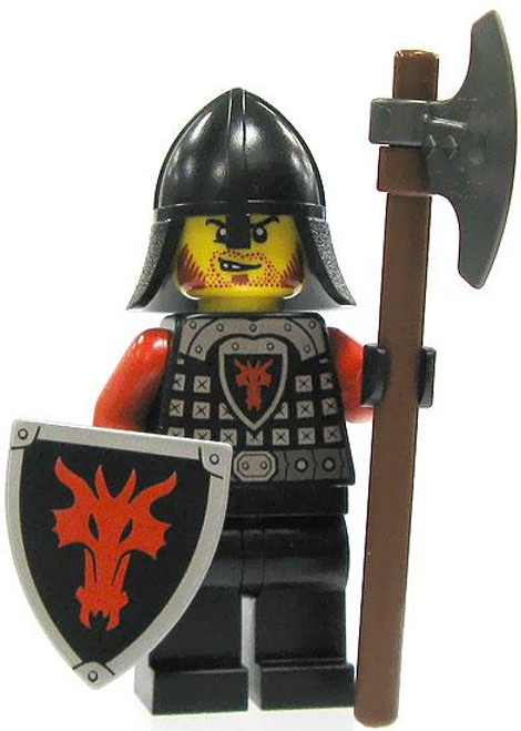 LEGO Castle Loose Dragon Soldier Minifigure [Axe & Shield Loose]