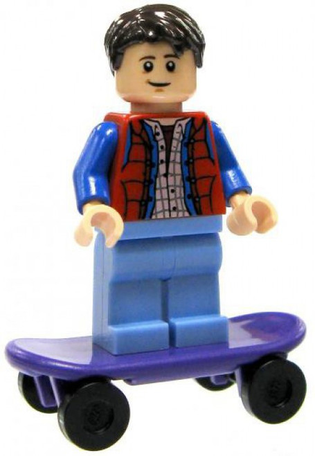 LEGO Back to the Future Loose Marty McFly with Skateboard Minifigure [Loose]