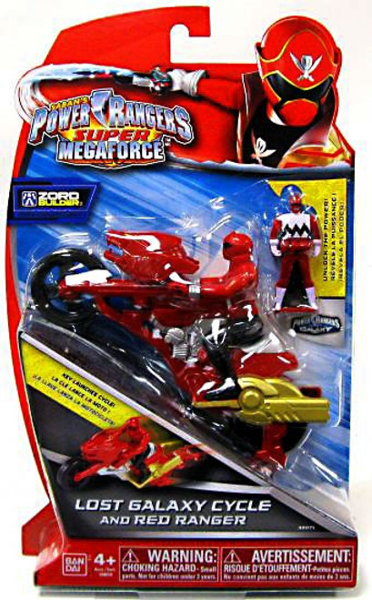 Power Rangers Super Megaforce Zord Builder Lost Galaxy Cycle & Red Ranger Action Figure
