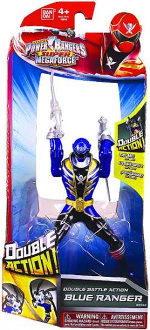 Power Rangers Super Megaforce Double Battle Action Blue Ranger Action Figure