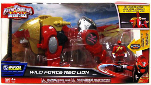 Power Rangers Super Megaforce Zord Builder Wild Force Red Lion Action Figure Vehicle