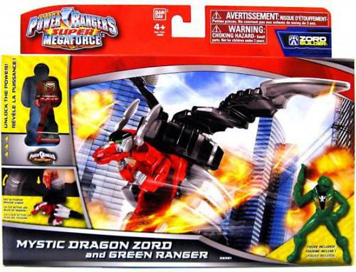 Power Rangers Super Megaforce Zord Builder Mystic Dragon Zord & Green Ranger Action Figure