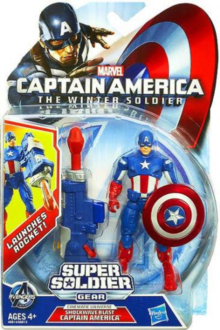 The Winter Soldier Super Soldier Gear Shockwave Blast Captain America Action Figure
