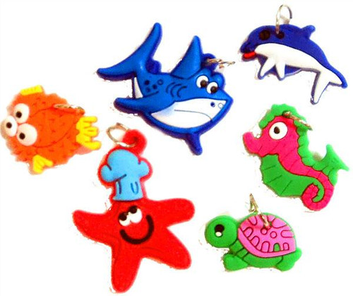 Rubber Band Bracelets Ocean Theme Charms [6 ct]