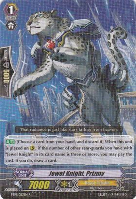 Cardfight Vanguard Triumphant Return of the King of Knights Rare Jewel Knight, Prizmy BT10/023
