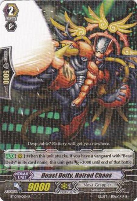 Cardfight Vanguard Triumphant Return of the King of Knights Rare Beast Deity, Hatred Chaos BT10/040