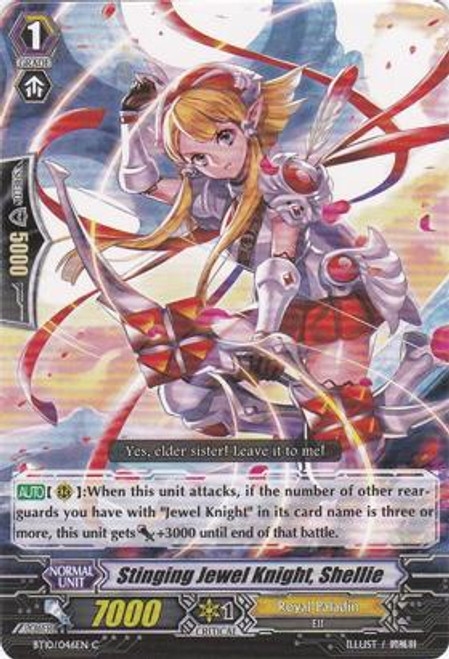 Cardfight Vanguard Triumphant Return of the King of Knights Common Stinging Jewel Knight, Shellie BT10/046