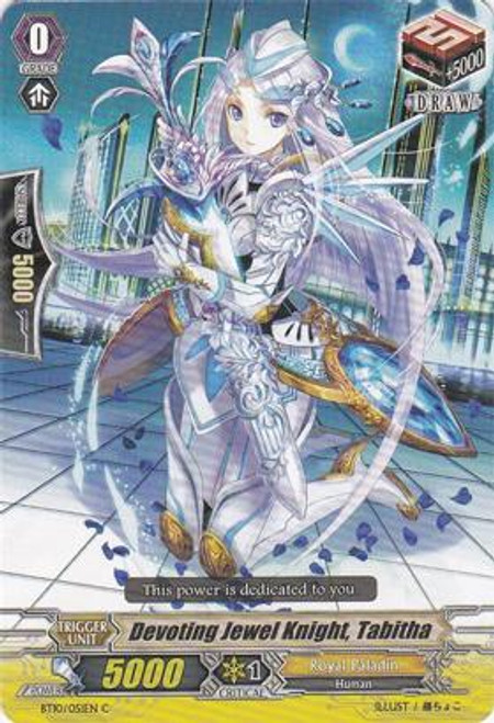 Cardfight Vanguard Triumphant Return of the King of Knights Common Devoting Jewel Knight, Tabitha BT10/051