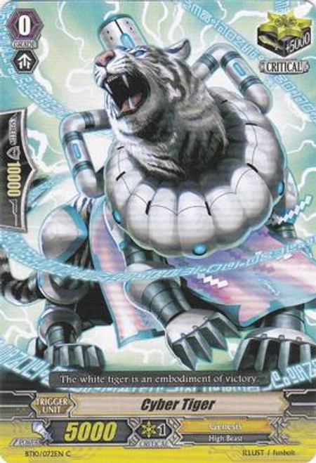 Cardfight Vanguard Triumphant Return of the King of Knights Common Cyber Tiger BT10/072