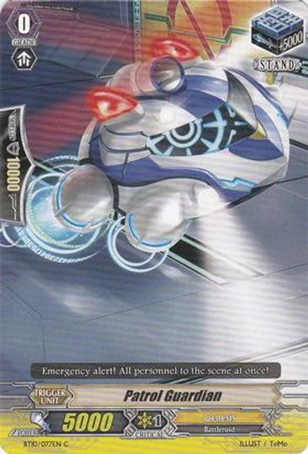 Cardfight Vanguard Triumphant Return of the King of Knights Common Patrol Guardian BT10/077