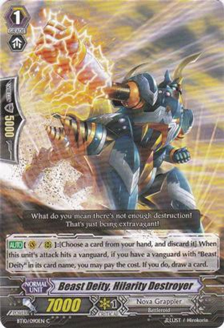 Cardfight Vanguard Triumphant Return of the King of Knights Common Beast Deity, Hilarity Destroyer BT10/090