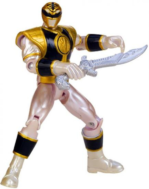 Power Rangers Megaforce Metallic Force Mighty Morphin White Ranger Action Figure