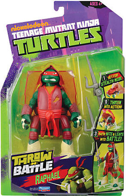 Teenage Mutant Ninja Turtles Nickelodeon Throw N Battle Raphael Action Figure