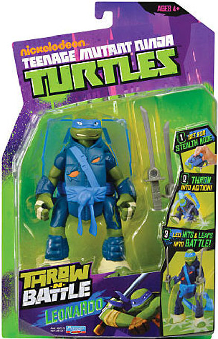 Teenage Mutant Ninja Turtles Nickelodeon Throw N Battle Leonardo Action Figure