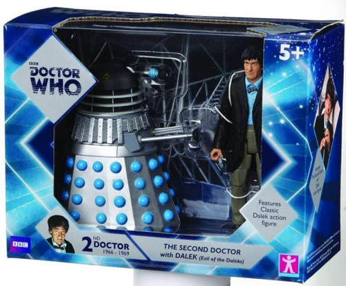 Doctor Who The 2nd Doctor with Dalek Action Figure 2-Pack [Silver]