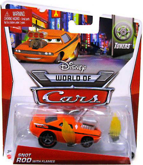 Disney Cars The World of Cars Series 2 Snot Rod with Flames Diecast Car #3 of 8