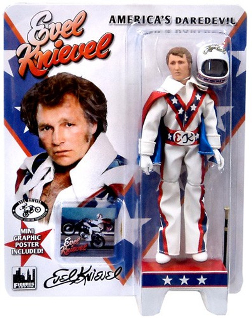 Evel Knievel Series 1 Blue Jumpsuit Action Figure [White Jumpsuit]