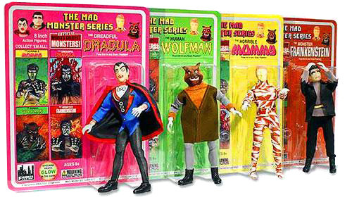 The Mad Monster Series Set of 4 Action Figures