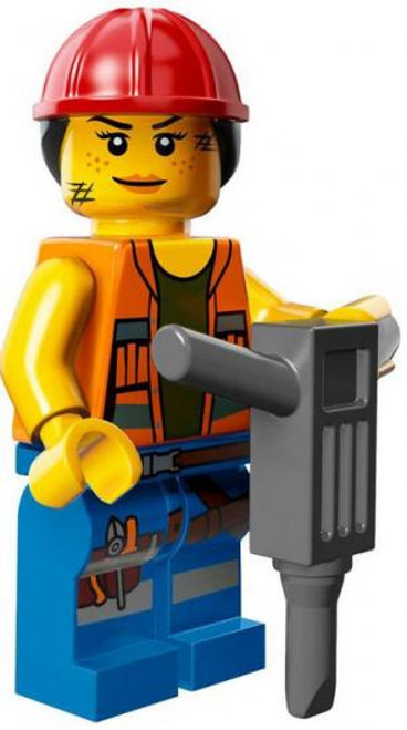 The LEGO Movie Loose Gail the Construction Worker Minifigure [Loose]