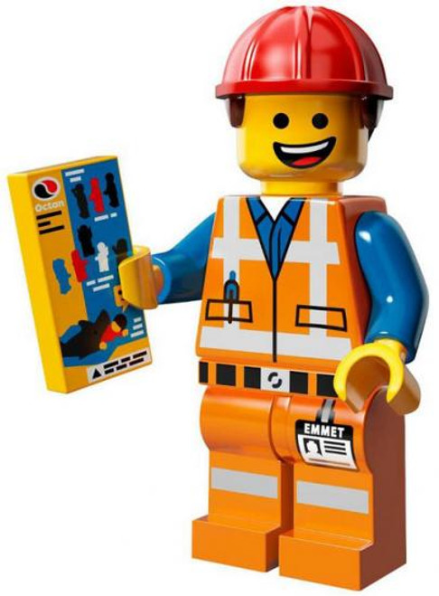 The LEGO Movie Loose Hard Hat Emmet Minifigure [Loose]