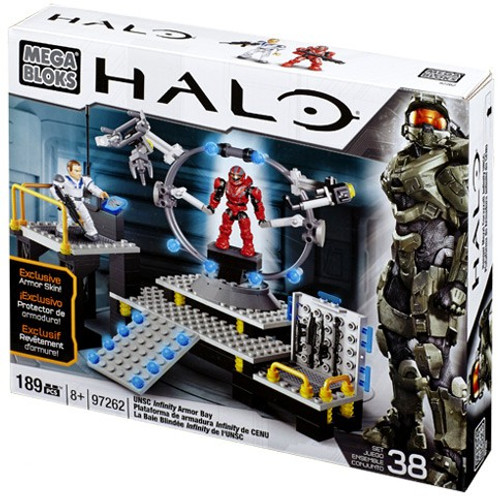 Mega Bloks Halo UNSC Infinity Armor Bay Exclusive Set #97262