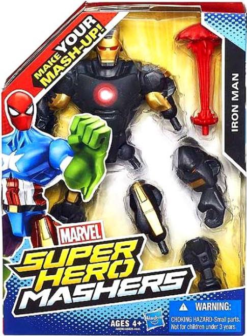 Marvel Super Hero Mashers Iron Man Action Figure [Black Armor]